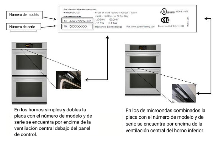repair-ja-ovens-model-serial-spanish
